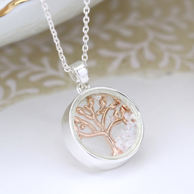 Tree of Life Rose Gold Necklace