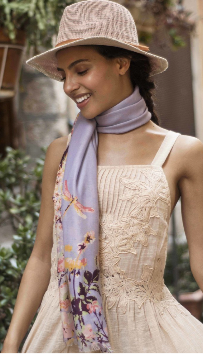 Purple Spring Hair Scarf