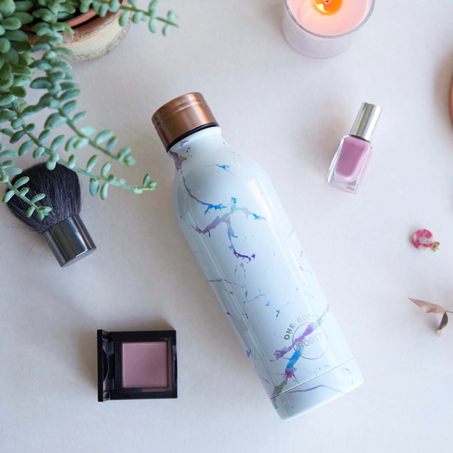 Marble Water Bottle