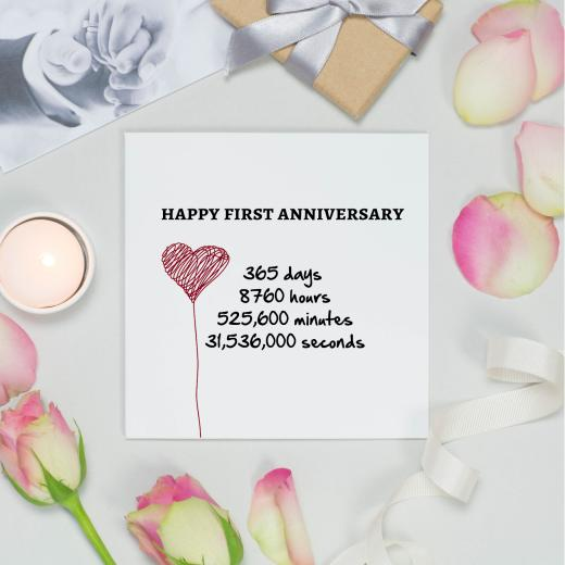 Anniversay Card Paper Happy First Anniversary 365 Days Text On High Quality Card Shmuncki Verse 3 50 Schmunki Verse Cards Cards By Brand Antique Rose Gifts