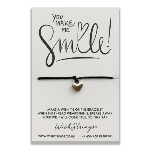 Dandelion Bracelet Cord Bracelet Wish Bracelet Inspirational Gift Wish Charm Bracelet Black Bracelet Black Cord Charm Bracelet